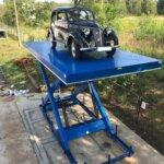 oldtimer op autolift